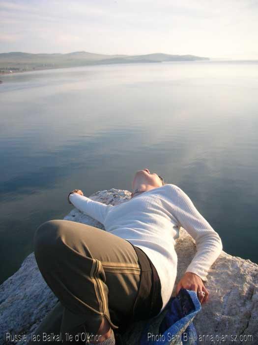 Oser vivre pleinement ? Les voyages (ici, en Russie, île d'Olkhon, lac Baïkal) m'ont appris à le faire.