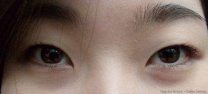 Yeux d'une femme coréenne pour illustrer un article sur les citations des dramas coréens