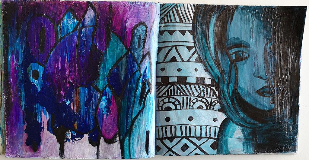 Création art-journal girly de Laurie Amiot, web créatrice et formatrice