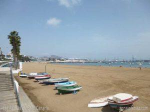 Bateaux en bord de mer lors d'un voyage à Las Palmas de Gran Canaria