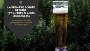 Image illustrant la chronique du livre de Philippe Delerm, La première gorgée de bière et autres plaisirs minuscules