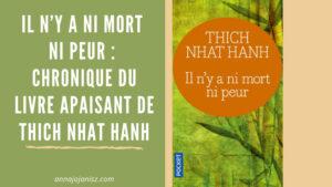 Illustration de la chronique du livre de Thich Nhat Hanh, «Il n'y a ni mort ni peur», sur le blog d'Annajo Janisz