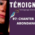 Illustration du podcast d'Annajo Janisz sur l'éveil spirituel, dont le titre est Chanter son abondance.