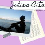 Illustration de la vidéo des plus belles citations sur la vie de l'écrivaine et poétesse contemporaine Annajo Janisz